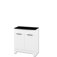 SANTI White gloss chest of drawers 2d1s