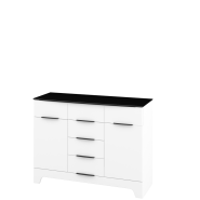 SANTI White gloss chest of drawers 2d6s