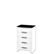 SANTI White gloss chest of drawers 4s