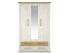 ARSAL Nordic pine wardrobe with mirror 3d4s