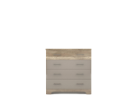 MULATTO Oak canyon / cappuccino gloss chest of drawers 4s