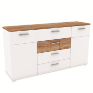 CANDY craft oak dark / white chest of drawers 2d4s