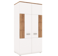 CANDY craft oak dark / white wardrobe 2d