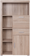 DAMIS Oak sonoma bookcase with coctail cabinet 1d1s1b