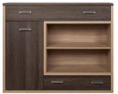 ALES Oak san remo / arusha chest of drawers 1d2s