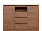 MONTI Oak lefkas chest of drawers 2d3s/140x100