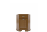 TIFFANY Chestnut corner chest of drawers 1d1s
