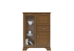 TIFFANY Chestnut chest of drawers with coctail cabinet 1d1w1s1b