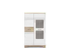 MULATTO Oak canyon / white gloss showcase 1d1w/90
