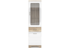 MULATTO Oak canyon / white gloss showcase 1d1w1s