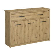 AYSON dąb artisan chest of drawers 3d2s